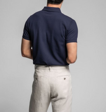 Load image into Gallery viewer, GANT Contrast Collar Pique Polo Evening Blue