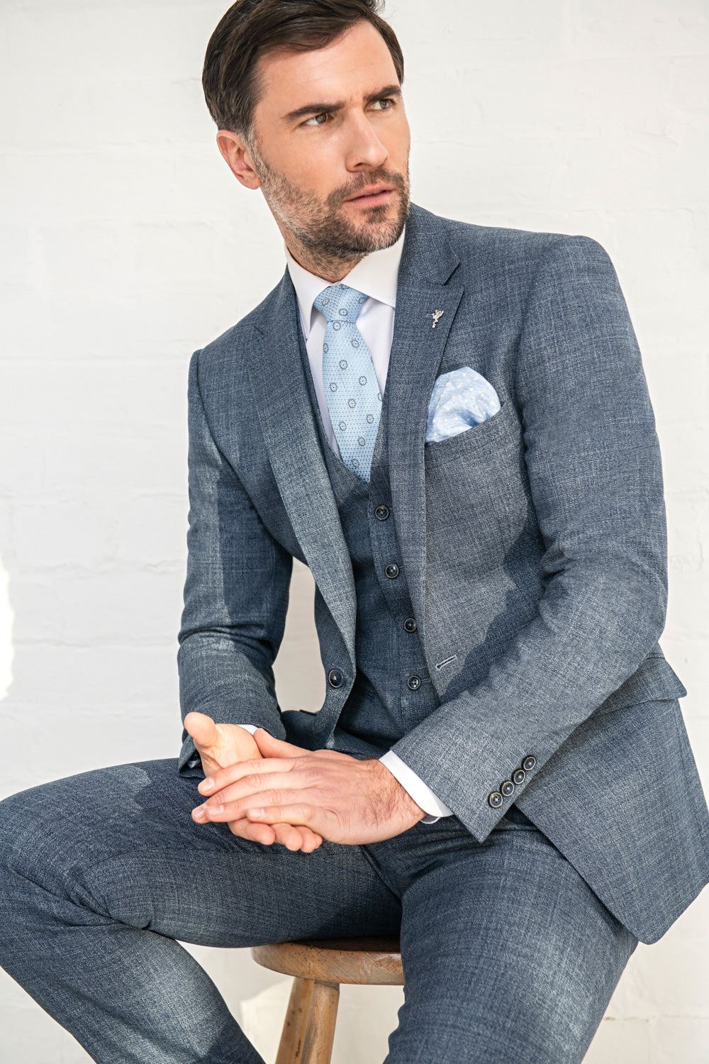 Herbie Frogg Three Piece Suit Blue