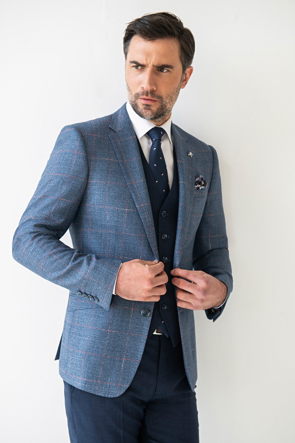Herbie Frogg Suit Separates Three Piece Suit Blue Navy