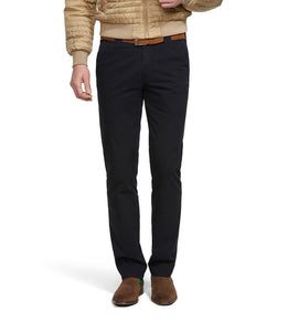 Meyer Oslo Cotton Travel Trouser Dark Navy