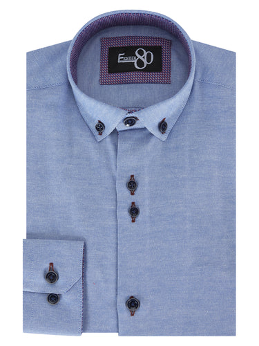 1880 Club Boys Youths Casual Shirt Blue
