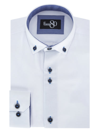 1880 Club Boys Youths Casual Shirt White