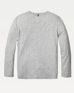 Tommy Hilfiger Kids Basic Long Sleeve Tee  Grey Heather