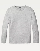 Load image into Gallery viewer, Tommy Hilfiger Kids Basic Long Sleeve Tee  Grey Heather