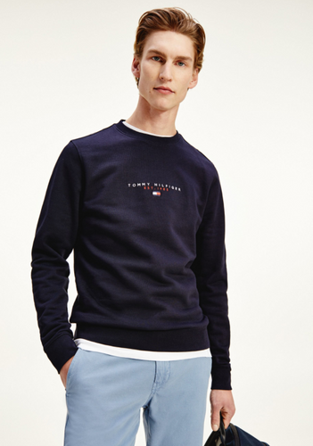 Tommy Hilfiger Essential Tommy Crew Sweater Desert Sky