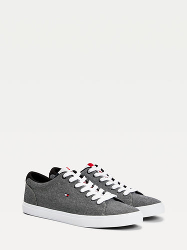 Tommy Hilfiger Essential Chambray Sneaker Grey Black