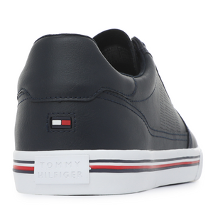 Tommy Hilfiger Core Corporate Leather Sneaker Desert Sky