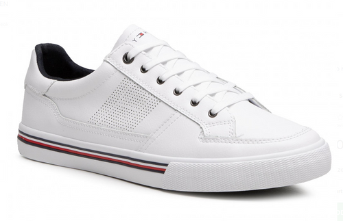 Tommy Hilfiger Core Corporate Leather Sneaker White