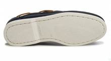 Load image into Gallery viewer, Tommy Hilfiger Leather Boat Shoe Navy