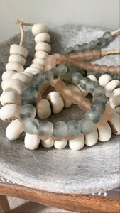 Grey Glass Bead Garland