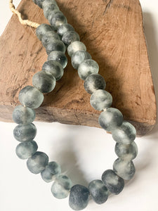 Grey Large Glass Bead Strand