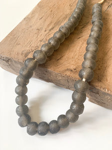 Dusty Night Glass Bead Strand