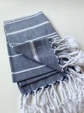 Load image into Gallery viewer, Navy Turkish Hand Towel