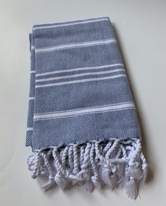 Denim Turkish Hand Towel