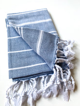 Load image into Gallery viewer, Denim Turkish Hand Towel
