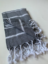Load image into Gallery viewer, Black Turkish Hand Towel