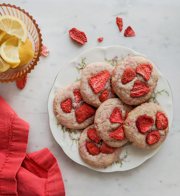 Strawberry Lemonade Sugar Cookies