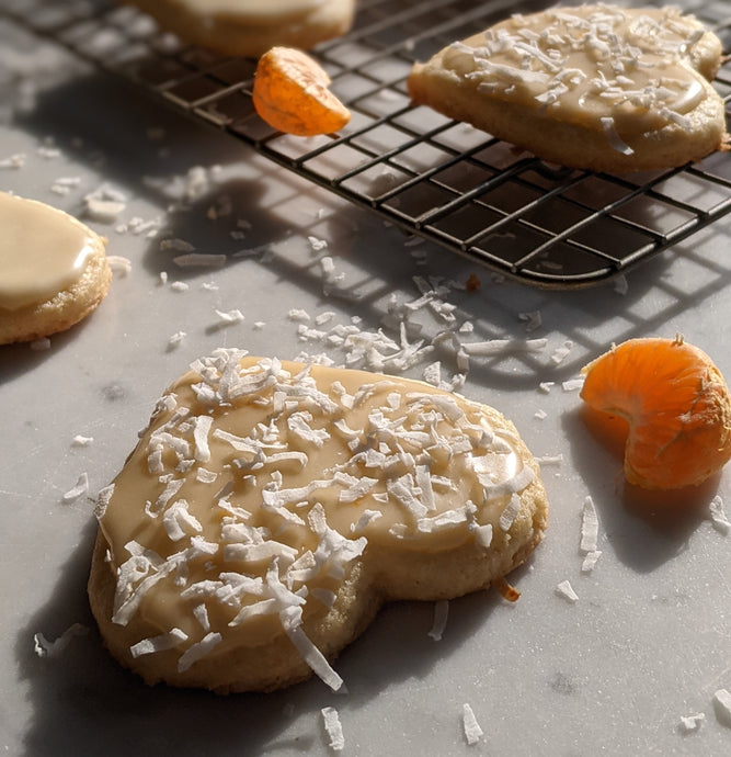 Coconut Clementine Sugar Cookies