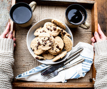 Load image into Gallery viewer, Vegan Okara Chocolate Chip Cookies (10 Double Packs)