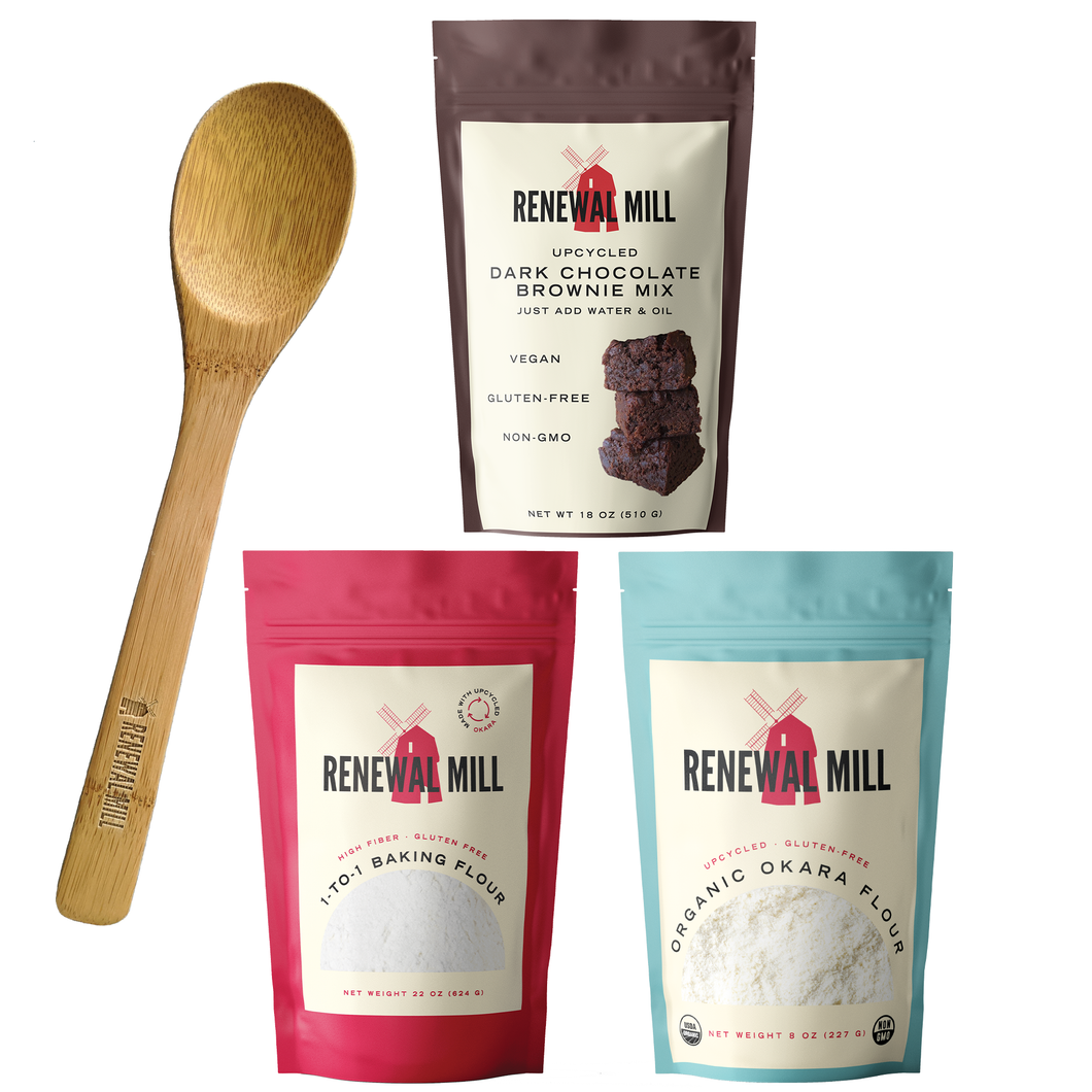 Complete Renewal Mill Baking Set + Wooden Baking Spoon