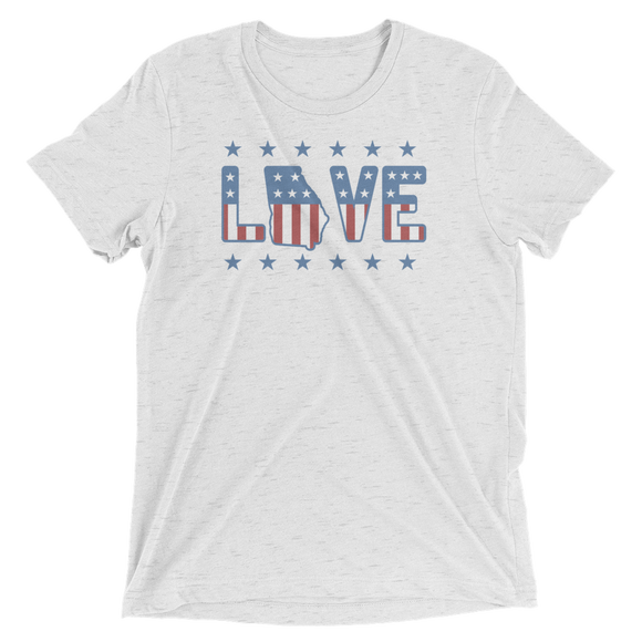 Limited LoveGA Stars and Stripes Tri-Blend T-Shirt