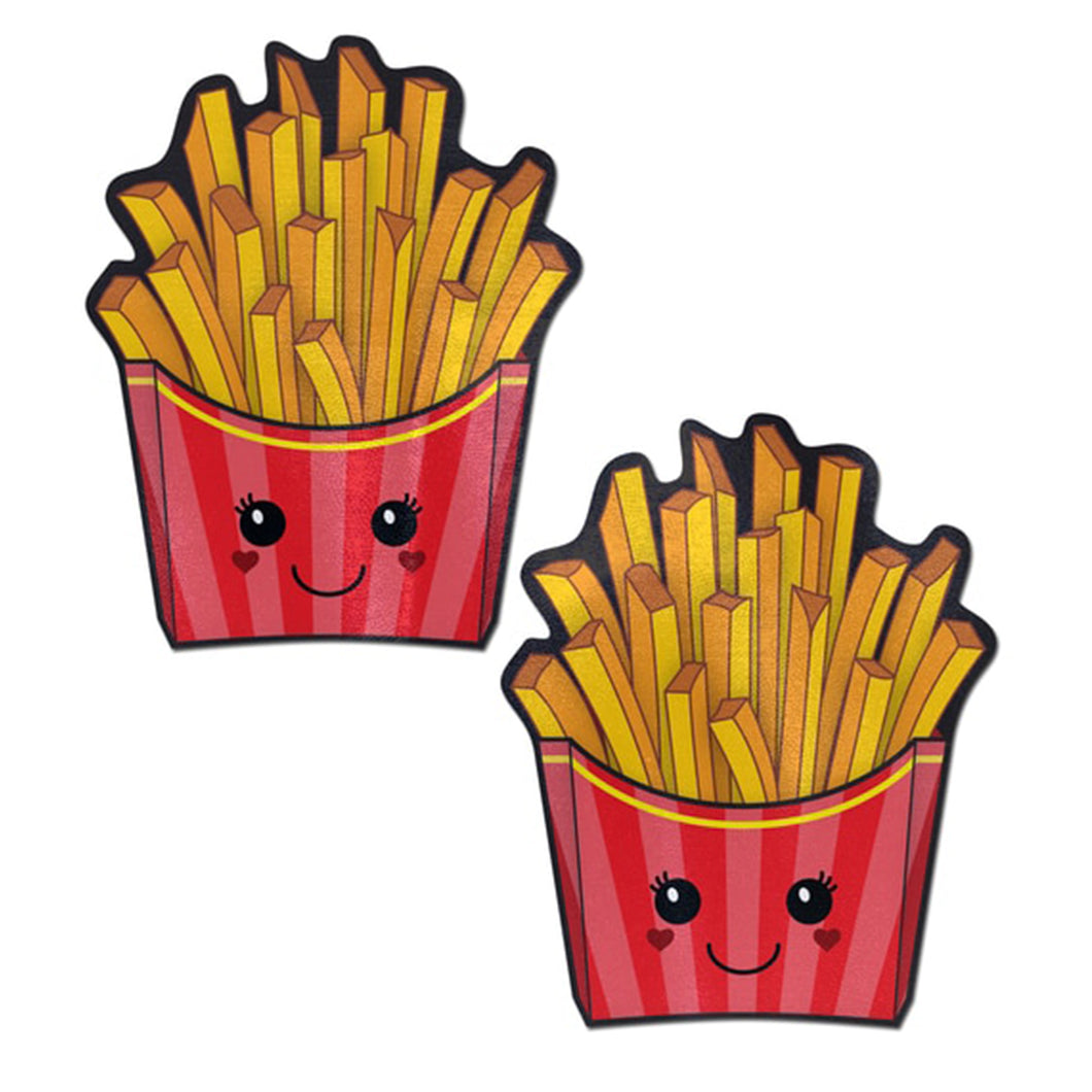 Fry: Happy Kawaii French Fries Nipple Pasties by Pastease® o/s