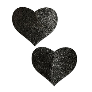 Everyday Reusable: Liquid Black Heart Reusable Nipple Pasties by Pastease® Everyday o/s
