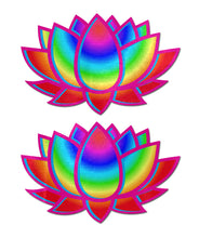 Load image into Gallery viewer, Lotus: Acid Rainbow Lotus Nipple Pasties by Pastease® o/s