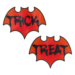 Vamp: Blood Orange Halloween Trick or Treat Bat Nipple Pasties by Pastease® o/s