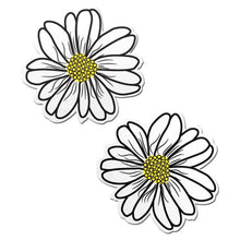 Load image into Gallery viewer, Wildflower: White and Yellow with Black Flower Nipple Pasties by Pastease® o/s