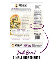 Load image into Gallery viewer, Garlic Naan Flatbread (Full Case, 8 Packs of 2 Sheets)