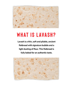Traditional Mini Lavash Flatbread (4 Packs of 8 Sheets)