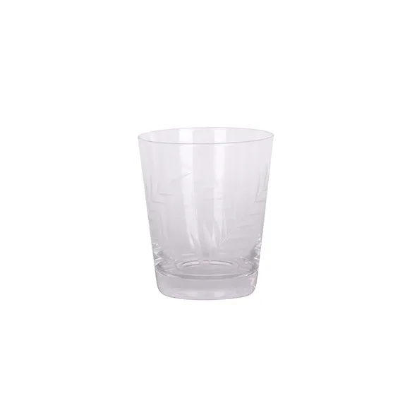 Leaf Cut Short Tumbler Glass Set of 4