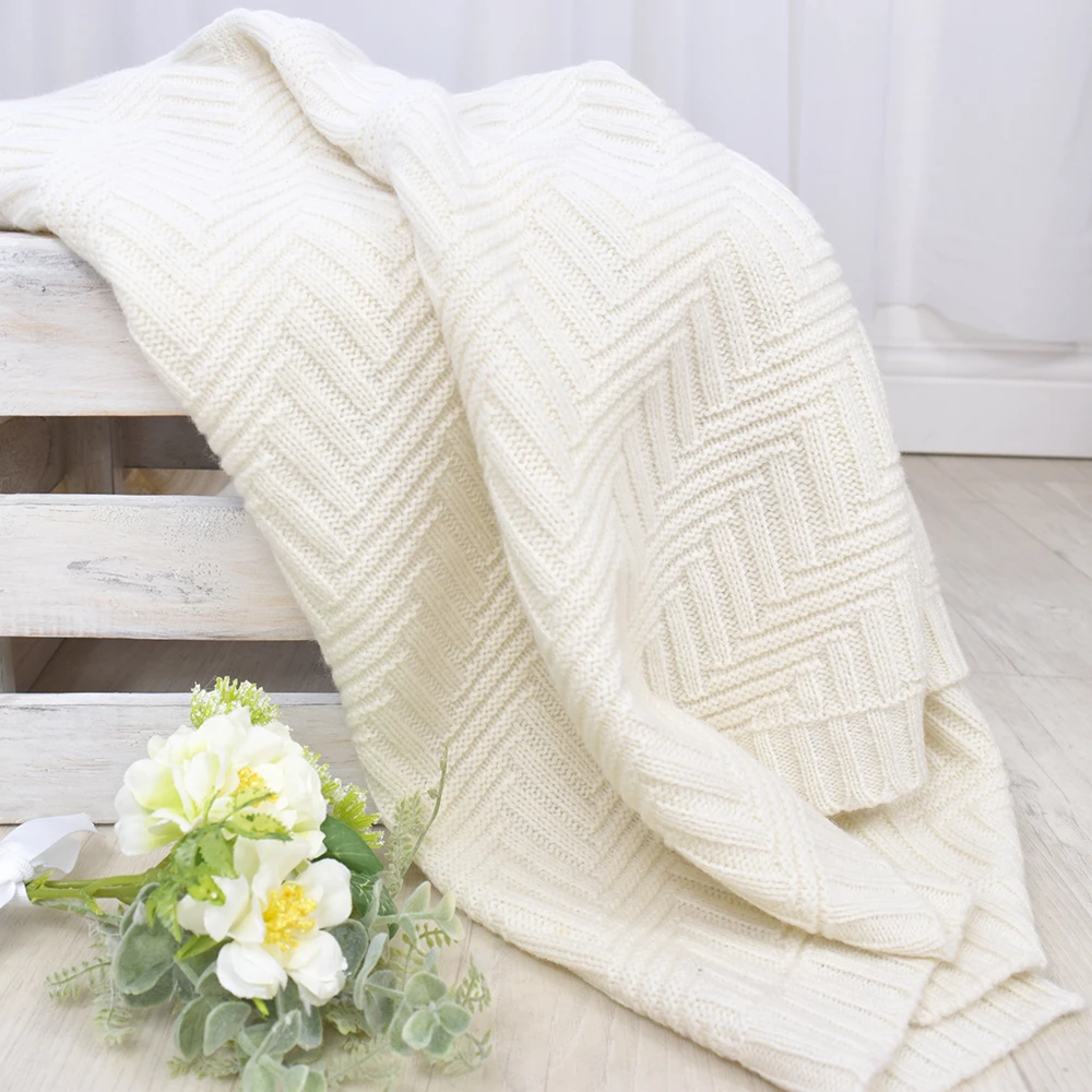 Cream Merino Pram Blanket