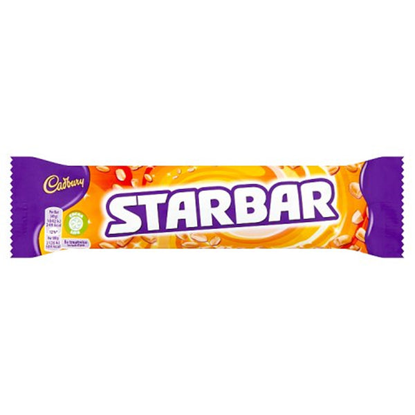 Cadbury Starbar Chocolate Bar - 49g bar - Pack of 32