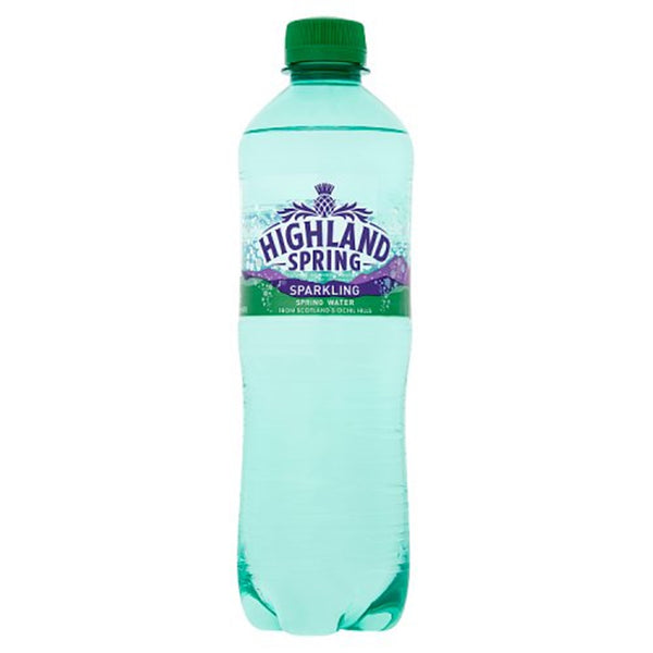 Highland Spring Sparkling Water - 500ml Bottle - Pack of 24