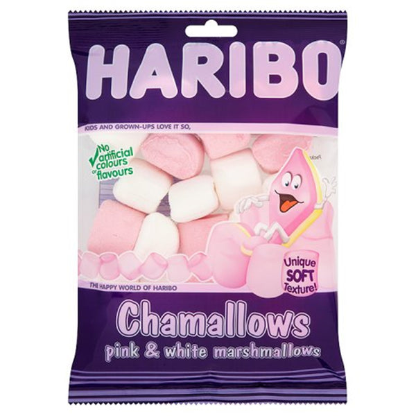 HARIBO Chamallows Pink & White - 140g bag - Pack of 12