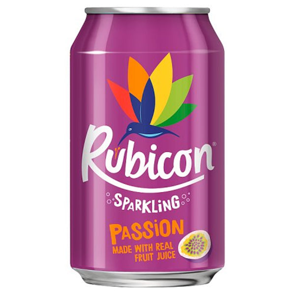 Rubicon Sparkling Passion Fruit - 330ml Can - Pack of 24