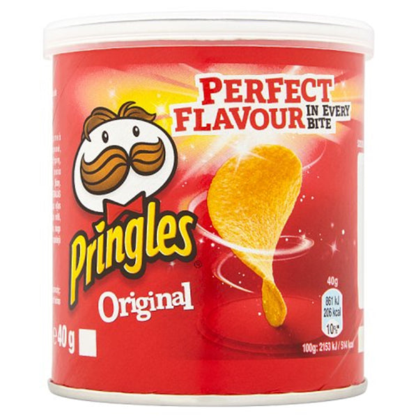 Pringles Original Flavour Crisps - 40g tube - Pack of 12