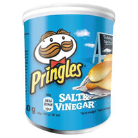 Pringles Salt & Vinegar Flavour Crisps - 40g tube - Pack of 12