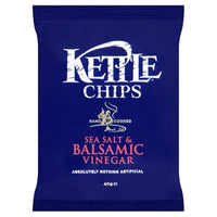 Kettle Chips Sea Salt & Balsamic Vinegar Crisps - 40g bag - Pack of 18