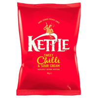 Kettle Chips Sweet Chilli & Sour Cream Crisps - 40g bag - Pack of 18