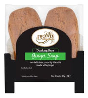 Patersons Cafe Bronte Ginger Snap Dunker Biscuit - 2 x 30g - Pack of 24