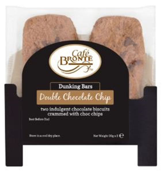 Patersons Cafe Bronte Double Chocolate Chip Dunker Biscuit - 2 x 30g - Pack of 24