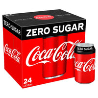 Coke Zero Sugar - 330ml Can - Pack of 24