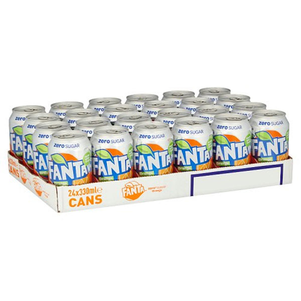 Fanta Orange Zero - 330ml Can - Pack of 24