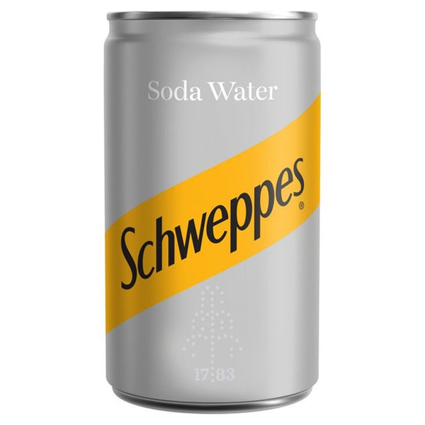Schweppes Soda Water - 150ml Can - Pack of 24