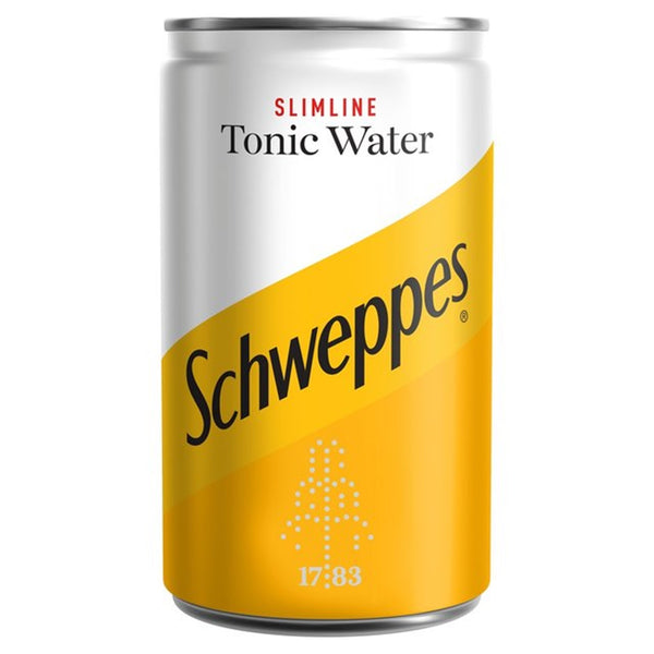 Schweppes Slimline Tonic - 150ml Can - Pack of 24