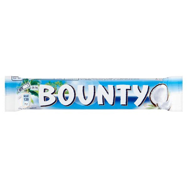 Bounty Milk Chocolate Coconut Bar - 57g twin bar - Pack of 24