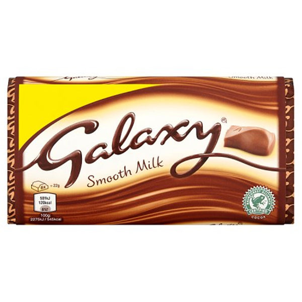Galaxy Smooth Milk Chocolate Bar - 110g bar - Pack of 24